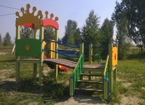 Июль 2016. Смонтирована детская площадка для малышей